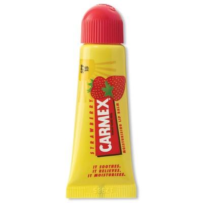 Бальзам для губ Carmex с ароматом клубники с SPF15 10г: фото