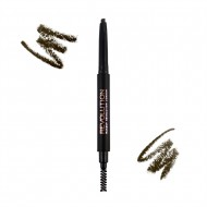 Карандаш для бровей Makeup Revolution Duo Brow Pencil Medium Brown: фото