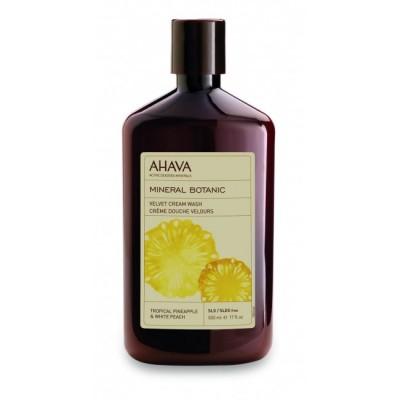 Бархатистое жидкое крем-мыло тропический ананас и белый персик Ahava Mineral Botanic 500 мл: фото