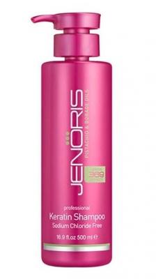 Кератиновый шампунь для волос Jenoris Keratin Shampoo-Sodium Chloride Free 500 мл: фото