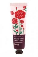 Крем для рук с розой TONY MOLY Natural green hand cream Rose 30 мл: фото