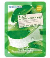 Тканевая 3D маска с экстрактом алоэ FoodaHolic Aloe Natural Essence Mask 23мл: фото