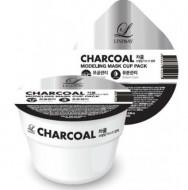 Альгинатная маска с углем LINDSAY Charcoal disposable modeling mask cup pack 28 гр: фото