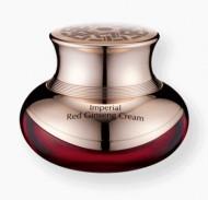 Крем питательный с экстрактом слизи улитки и красного женьшеня OTTIE Imperial Red Ginseng Snail Cream 50мл: фото