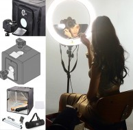 "Кольцевая лампа Stellar Diva 18"" Ring Light + Stand+ Stellar Photo Cube"