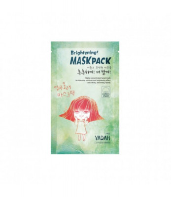 Маска для лица тканевая осветляющая YADAH BRIGHTENING MASK PACK 25гр: фото
