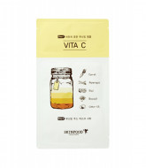 Маска тканевая Витамин С SKINFOOD Boosting Juice 2-step Mask Sheet VITA C 23мл/2,5мл: фото