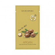 Маска для волос восстанавливающая с арганой NATURE REPUBLIC ARGAN ESSENTIAL DEEP CARE STEAM HAIR MASK 30мл: фото