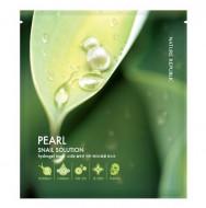 Маска для лица гидрогелевая NATURE REPUBLIC Snail Solution Pearl HydroGel Mask 25г: фото