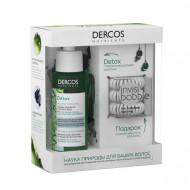 Набор Vichy Dercos Nutrients: Глубоко очищающий шампунь Dercos Nutrients 100 мл + Резинка-браслет для волос Invisibobble 3шт: фото