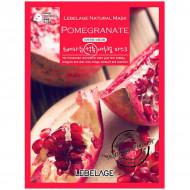 Антивозрастная тканевая маска с экстрактом граната LEBELAGE Pomegranate Natural Mask: фото