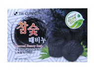 Мыло кусковое УГОЛЬ 3W CLINIC Charcoal Beauty Soap 120 г: фото