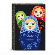 Набор масок для лица, шеи и век подарочный DIZAO Три красотки: фото