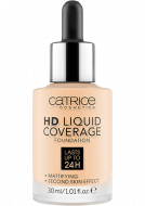 Тональная основа CATRICE HD Liquid Coverage Foundation002 Porcelain Beige