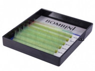 Ресницы Bombini Holi Зеленые, 6 линий, изгиб C MIX (8-13) 0.10: фото