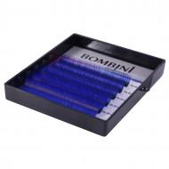 Ресницы Bombini Holi Синие, 6 линий, изгиб С MIX (8-13) 0.10: фото