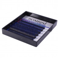 Ресницы Bombini Holi Черно-синие, 6 линий, изгиб C MIX (8-13) 0.07: фото