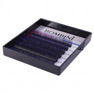 Ресницы Bombini Holi Черно-фиолетовые, 6 линий, изгиб C MIX (8-13) 0.07: фото