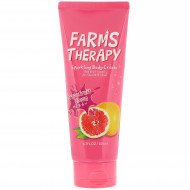 Крем для тела грейпфрут FARMS THERAPY Sparkling Body Cream Grapefruit Clean 200мл: фото