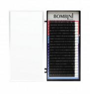 Ресницы Bombini Черные, 20 линий, изгиб D+ – MIX (9-12) 0.07: фото