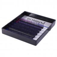 Ресницы Bombini Holi Черно-фиолетовые, 6 линий, изгиб D MIX (8-13) 0.07: фото
